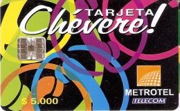 TARJETA DE COLOMBIA DE METROTEL DE $5000 CHEVERE! - Colombia