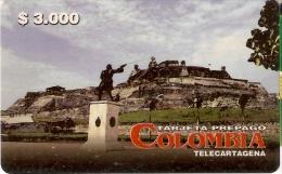 TARJETA DE COLOMBIA DE $3000 DE TELECARTAGENA - Colombia