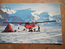 2-2932 Carte Base Northern Alexander Plane  BAT British Antarctic Survey Brise Glace Grande Bretagne Antarctique No TAAF - Polar Flights
