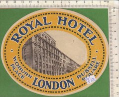 PO0372C# ETICHETTA - ADESIVI ALBERGHI - ROYAL HOTEL LONDON - Adesivi Di Alberghi