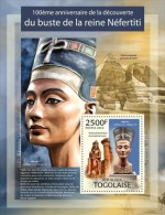 tg13309b Togo 2013 Nefertiti bust s/s