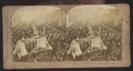 INGHILTERRA - UNITED KINGDOM - 1901 - FUNERALI REGINA VITTORIA - FUNERAL PROCESSION OF QUEEN VICTORIA - Stereoscopi