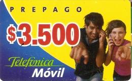 TARJETA DE CHILE DE TELEFONICA MOVIL DE $3500 - Chile