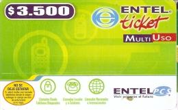 TARJETA DE CHILE DE ENTEL TICKET DE $3500 - Chile