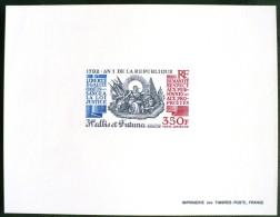WALLIS ET FUTUNA Bicentenaire De La Revolution (yvert PA 175 EPREUVE DE LUXE ) ** MNH (SHEET OF LUXE)