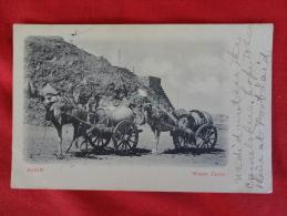 Asia > Yemen  Aden Water Carts  ---- Note Rub Marks On  Card Stamp & Cancel     Ref 1017 - Yemen
