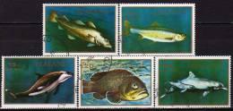 Meereswelt Der Atlantik 1970 Regionalmarken GB Sealand Set 1/5 O 12€ Fische Und Säugetiere Privates Set From UK - Fantasy Labels