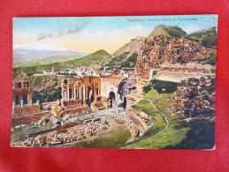Taormina Teatro Greco  1927 Stamp & Cancel      Ref 1017 - Unclassified