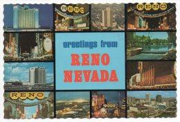 CPSM - USA - NEVADA - RENO - MULTIVUES - CASINO - Coul - Ann 70 - - Reno