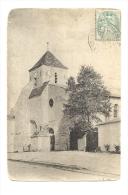 Cp, 79, Mauzé, Selon écrits De L'auteur De La Cp, L'Eglise, Voyagée 1906 - Mauze Sur Le Mignon