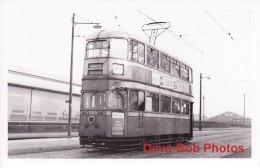 Tram Photo GLASGOW Cunarder Tramcar Car 1313 Corporation Tramways - Trains