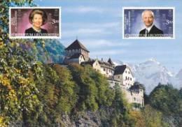 AKFL Liechtenstein Palace / Schloss / Palais Vaduz - Stamps - Prince And Princess - Liechtenstein