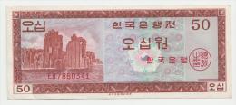 Korea South 50 Won ND 1962 VF++ (2 X 1mm Cuts) P 34 - Korea (Süd-)