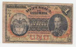 COLOMBIA 1 Peso 1895 VF P 234 Serie Z - Colombie