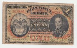 COLOMBIA 1 Peso 1895 VF P 234 Serie Z - Colombia
