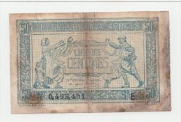 FRANCE 50 Centimes ND. 1917 G-VG P M1 - Treasury