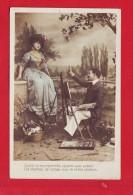 5305 - CPA CARTE POSTALE  PHOTOGRAPHIE FEMME HOMME ARTISTE PEINTRE MODELE - Libri