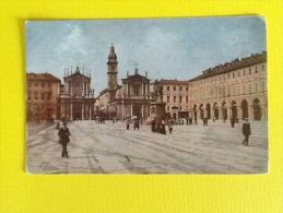 TORINO PIAZZA SAN CARLO DEL 1913 VIAGGIATA A COLORI IN BUONO STATO - Places