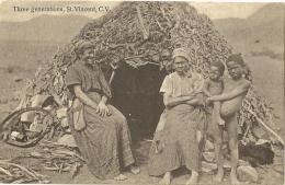SAINT VINCENT.  Three Generations. - Saint-Vincent-et-les Grenadines