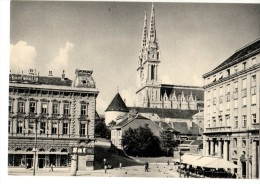 C P S M-C P M--CROATIE---ZAGREB-bakaceva Ulica-starcevicev Trg-narodno-kazaliste-pog Led Sa Strossmayerov-8 SCAN - Croatie
