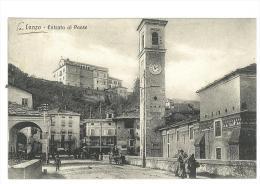 CARTOLINA - RARA - ENTRATA DEL PAESE -  LANZO  - TORINESE - ANIMATA  - VIAGGIATA NEL 1911 - Sin Clasificación
