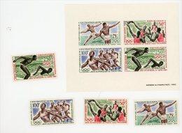 Centrafrique-1964-Basket,natation,..YT B2+A22/25***MNH - Sommer 1964: Tokio