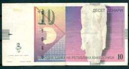 MACEDONIA F.Y.R.O.M. 1997 10 DENARI P14 -G - Macedonia