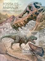 ca13308b Central African 2013 Fossils & Prehistoric Animals s/s Dinosaur