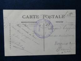 A3097  CP  DE PARIS  CACHET COMMISSION DE GARE DE PARIS NORD/LE COMMISAIRE MILITAIRE - Oorlog 1914-18
