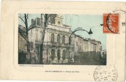 CPA 30 SAINT AMBROIX HOTEL DE VILLE  PUB - Saint-Ambroix