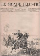 LE MONDE ILLUSTRE 20 09 1884  GRANDES MANOEUVRES - COULOMMIERS STATUE BEAUREPAIRE - SKIERNEWICE POLOGNE - CANON ALLEMAND - 1850 - 1899