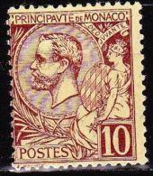 Monaco 1891-94 Prince Albert 1e 10 C. Lilas-brun Sur Jaune Y&T 14 Neuf Avec Charniere - Neufs