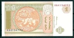 MONGOLIA 1993 1 TUGRIK P52 UNC -G - Mongolia