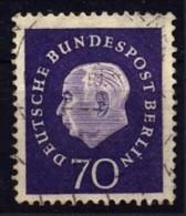 West-Berlin / Germany: 'Bundespräsident Theodor Heuss, 1959' / 'Federal President Heuss', Mi. 186; Yv. 166; Sc. 9N169 Oo - Oblitérés