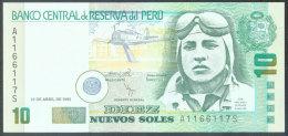 Peru 10 Nuevos Soles 25.4.1996 Pick 163 UNC - Pérou