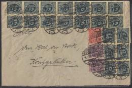 DR Brief Mif Minr.8x D29,D30,36x D31,2x D68 Helmstedt 15.1.23 - Dienstpost
