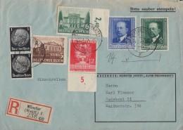 DR R-Brief Mif Minr.2x 512,764,7765,770 UR, 760,761 Münster 24.6.41 - Briefe U. Dokumente
