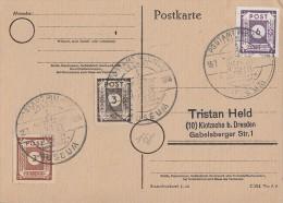 Ost-Sachsen Karte Mif Minr.51,56,62 SST Pillnitz 15.7.46 - Sowjetische Zone (SBZ)