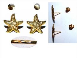 SUPERBE PAIRE DE BOUCLES OREILLE EN OR 18 CARATS ETOILES 18K GOLD 18 K - Earrings