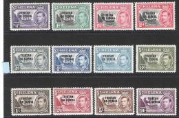 Tristan Da Cunha 1952 Definitives MNH CV £135 - Tristan Da Cunha