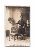56 VANNES Carte Photo, 116è Régiment Infanterie, Uniforme, 11-12-1916 - Vannes