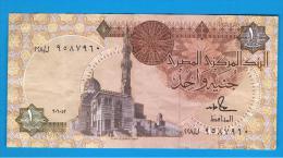 EGIPTO - EGYPT -  1 Pound ND Circulado   P-50 Firma  18 Hamed - Egipto