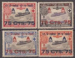 ES388-L1695TESSC.Spain, Espagne.ANIV.JURA   CONSTITUCION POR ALFONSO XIII. 1927 (Ed  388/91*,)con Charnela, EXCELENTE - Escudos De Armas