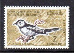 New Hebrides (French) 1963 2f Flycatcher Definitive, MNH (A) - French Legend