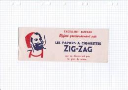 1 - BUVARD CIGARETTE TABAC PAPIER ZIG ZAG ZOUAVE - Tobacco