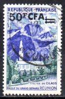 REUNION 1960 Tourist Publicity -  50f. On 1f. - Violet, Green And Blue (Cilaos)  FU - Réunion (1852-1975)