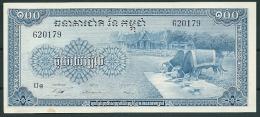 CAMBODIA 1956-72 100 RIELS P13b -G - Cambodia