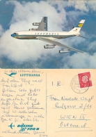 AK Flugzeug Lufthansa Boeing Jet 720 B 1961 Frankfurt Am Main Flughafen Airplane Aeroplane Avion Aviation Plane Aereo - 1946-....: Moderne