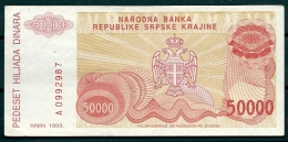 CROATIA 1993 50000 DINARA R21 -G - Billets