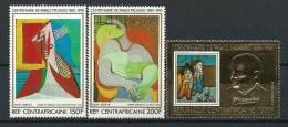 """Centrafrique Aerien YT 246 à 248 """" Pablo Picasso """" 1981 Neuf** - Central African Republic"""